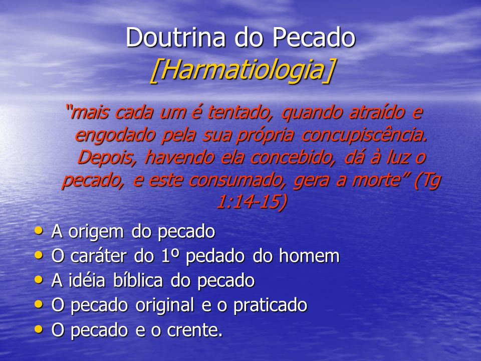 Doutrina do Pecado [Harmatiologia]